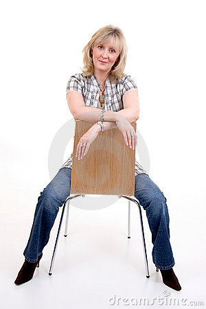 Blonde Sitting On Chair