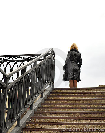 Blonde, Stairs and railings, metal construction