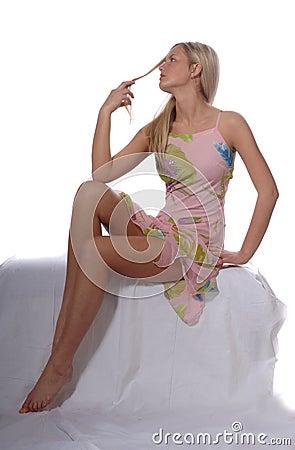 Blonde Supermodel