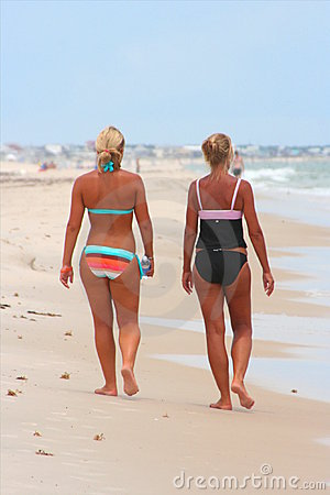 Blonde & Tan on the beach 5