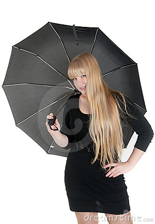 Blonde with an umbrella