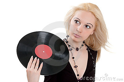 Blonde with vinyl disc