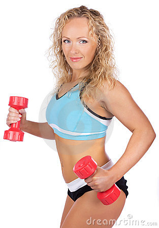 Blonde with weights