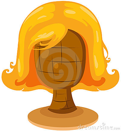 blonde wig on mannequin head