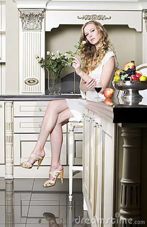 Free Blonde With White Rose Royalty Free Stock Photos - 12225028