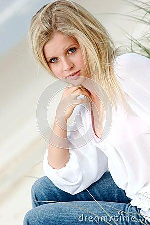 Free Blonde Woman Stock Image - 164591