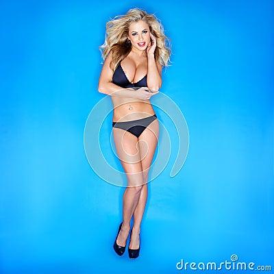 Blonde Woman In Bikini