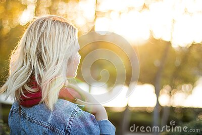 Blonde Woman In Outdoor Portrait Free Public Domain Cc0 Image