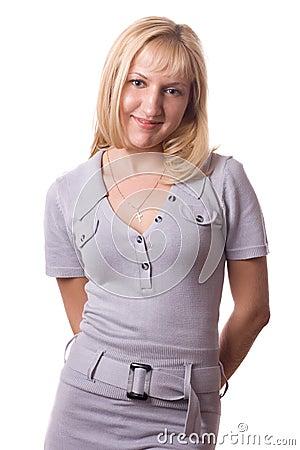 Blonde woman posing. #1