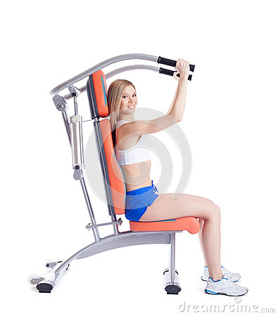 Free Blonde Woman Sitting On Exerciser Stock Images - 29175694