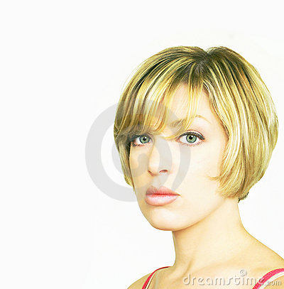 Free Blonde Woman With Bob Cut Stock Image - 963401