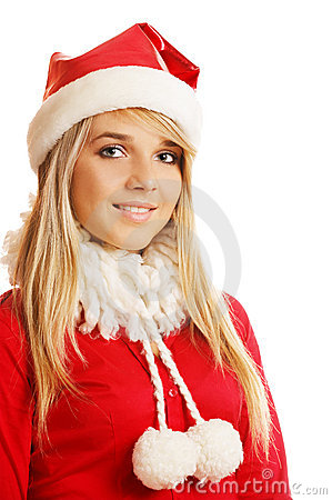 Blonde in xmas clothes