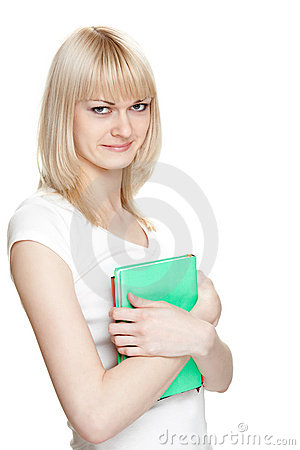 Blondie with books