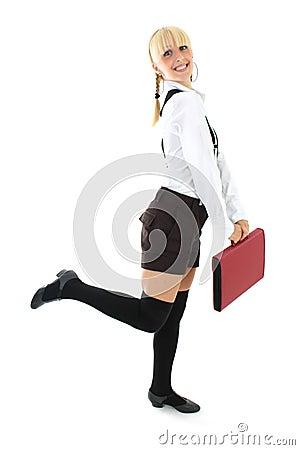 Blondie girl in school form