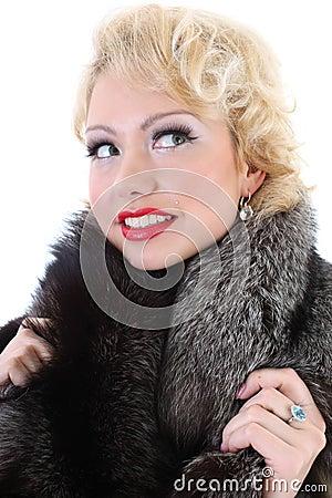 Blondie woman dreaming