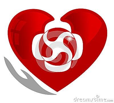 Blood circulation symbol