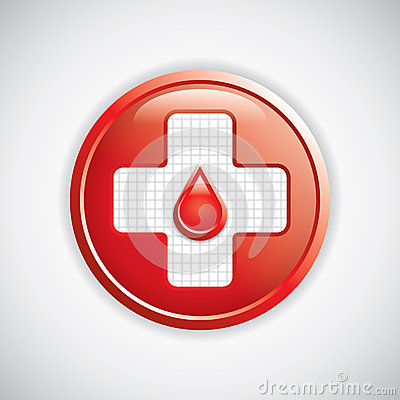 Blood donation button