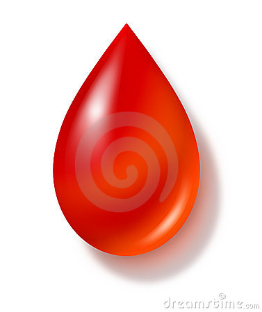 Blood drop isolated