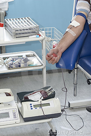 Blood extraction closeup 7