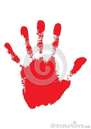 Blood hand