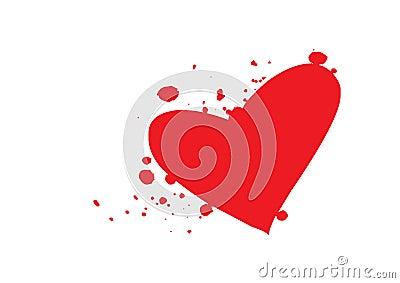 Blood heart -vector