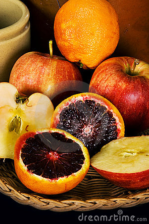 Free Blood Oranges And Apples Royalty Free Stock Photo - 13571225