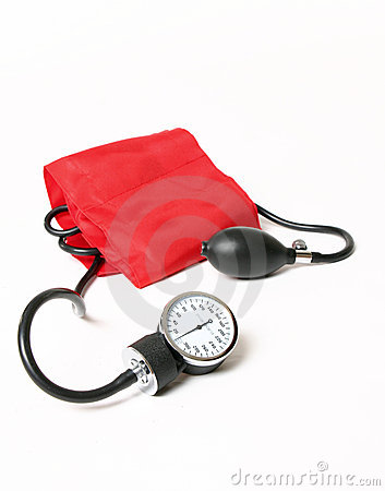 Free Blood Pressure Cuff And Gauge Royalty Free Stock Images - 1577449