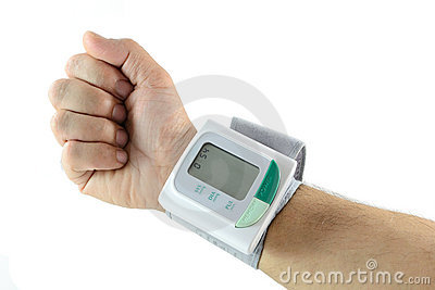 Blood pressure meter on wrist