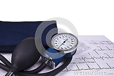 Blood Pressure Monitoring And EKG Reading Stock Image ...