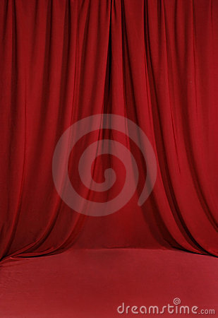 Blood Red Draped Backdrop