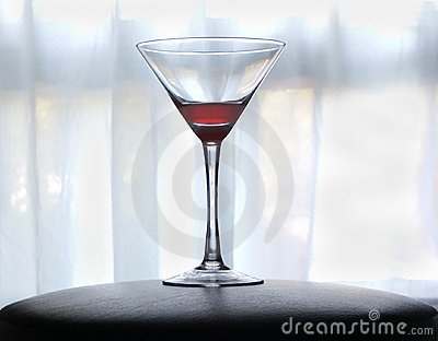 Blood red martini