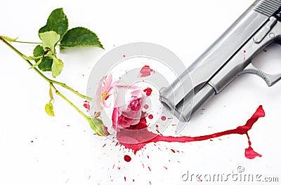 Blood Rose and Gun