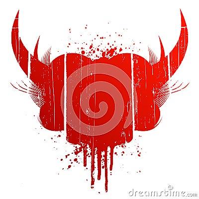 Blood splatter with horns