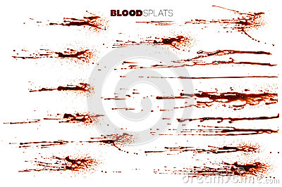 Blood Splatters, Drops and Drips