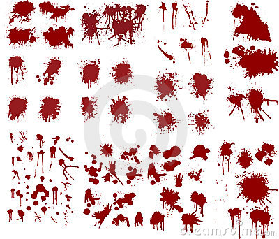 Blood splatters illustrations