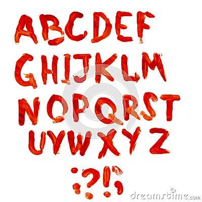 Bloodly alphabet