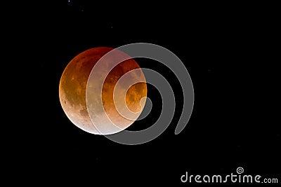 Bloodmoon lunar eclipse