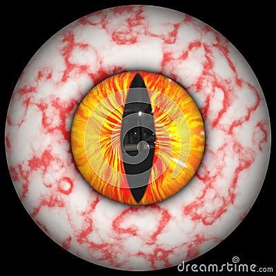 Bloodshot animal eye