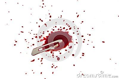 Bloody blade with blood splatter