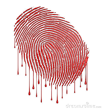 Bloody fingerprint