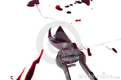Bloody gory pruners
