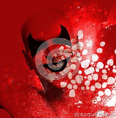 Bloody Grinning Clown