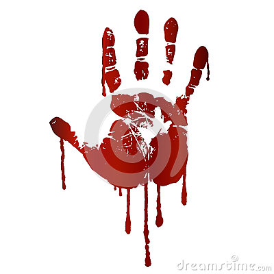 Free Bloody Hand Print Stock Photo - 28627100