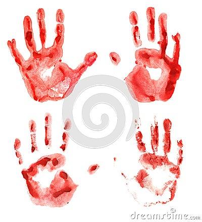 Free Bloody Hand Prints Stock Photos - 50117573