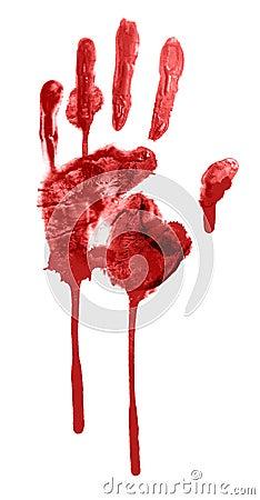 Free Bloody Handprint Stock Image - 21914541