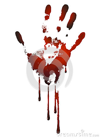 Free Bloody Handprint Royalty Free Stock Images - 33703929