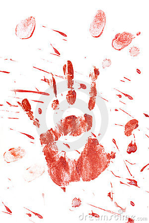 Free Bloody Handprint With Splatter Royalty Free Stock Photo - 16171495