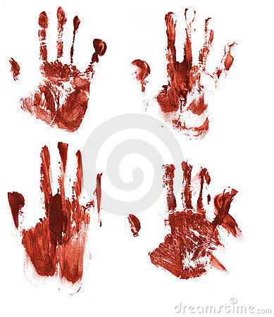 Free Bloody Handprints Royalty Free Stock Photo - 1041295