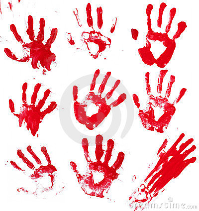 Free Bloody Hands Stock Images - 23837244