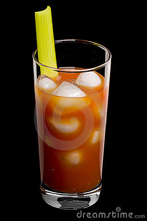 Free Bloody Mary Over A Black Background Stock Photo - 20051880